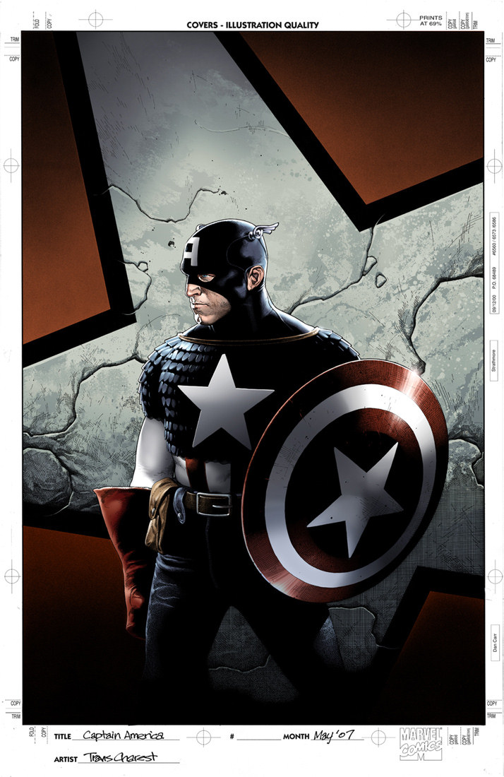 Color version of the COver to Captain America The Chose #1