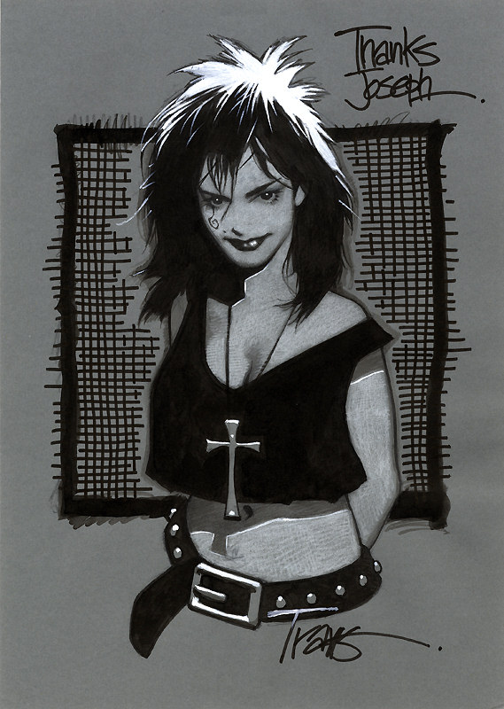 Death from SANDMAN sketch by Travis Charest