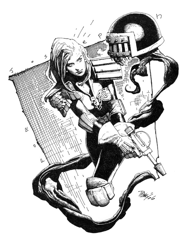 Judge Anderson Sketch by Travis Charest