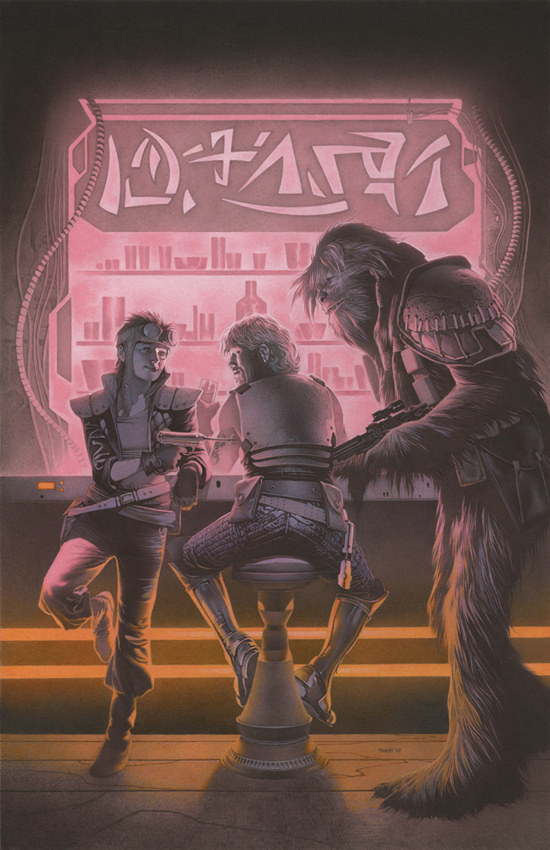Cover to Star Wars Legacy #14 by Travis Charest