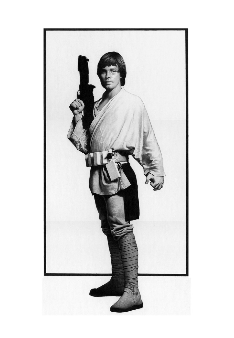 Black and White Luke Skywalker