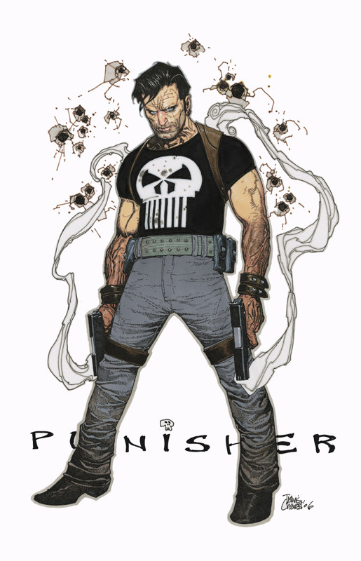 The Punisher sketch by Travis Charest