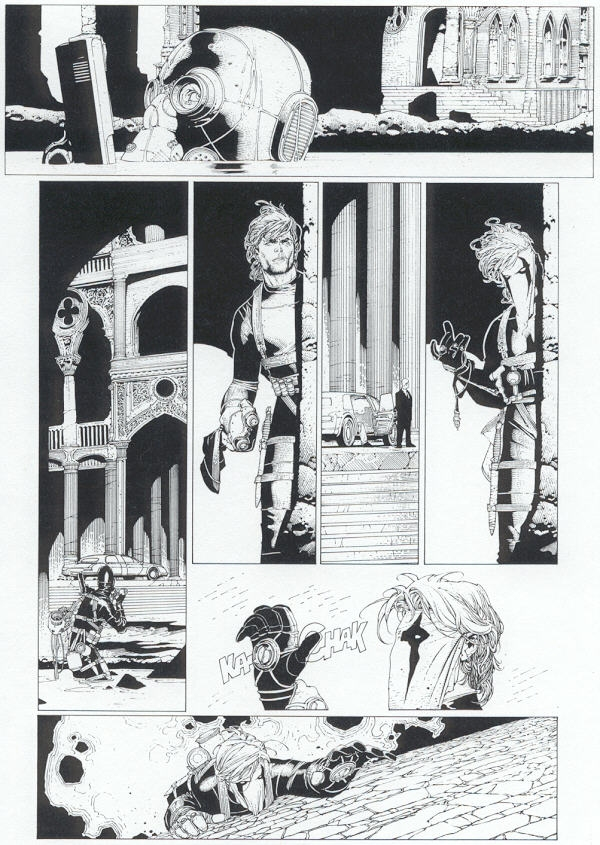 Page 4 Wildcats Vol 2 Issues #1 pencils & inks