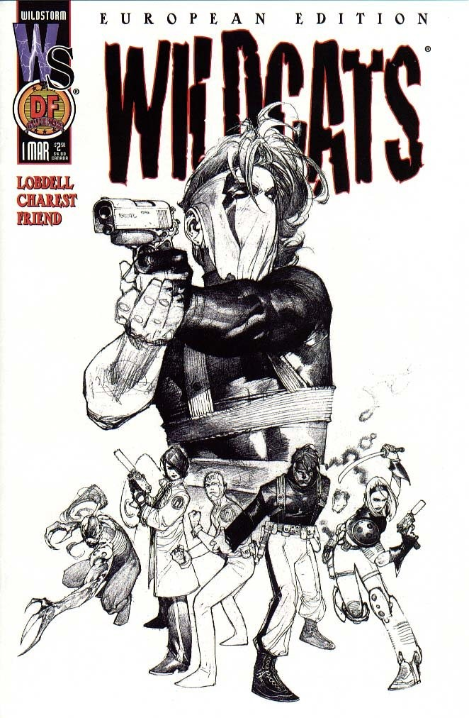 Cover to European Edition of Wildcats Vol2 #1