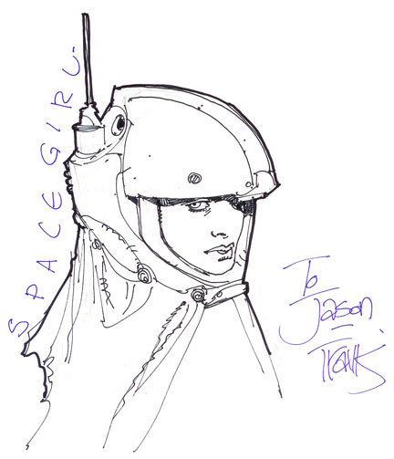 Spacegirl head sketch