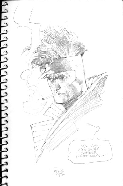 Sketch of Gambit from the X-Men