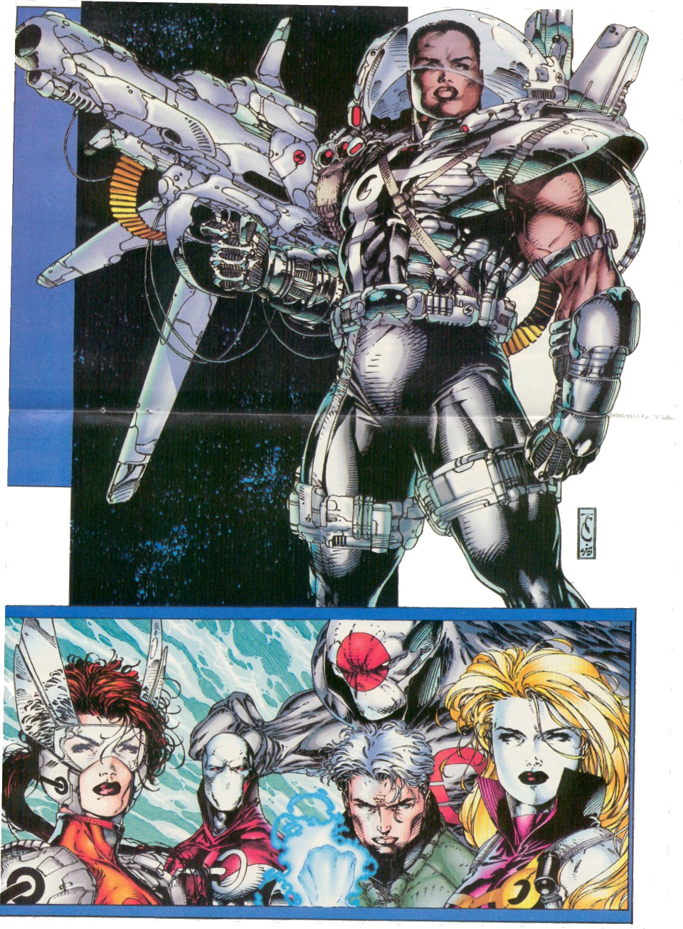 Pin-up from Stormwatch Vol1 #6