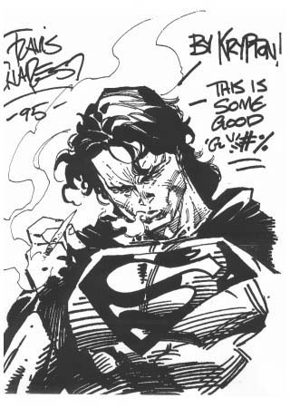 Sketch of Superman