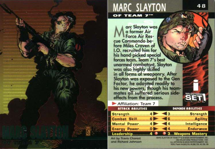 Marc Slayton of Team 7 card